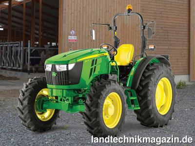 bild 3 auch die neuen john deere 5e traktoren sind als plattform version also ohne kabine und. Black Bedroom Furniture Sets. Home Design Ideas