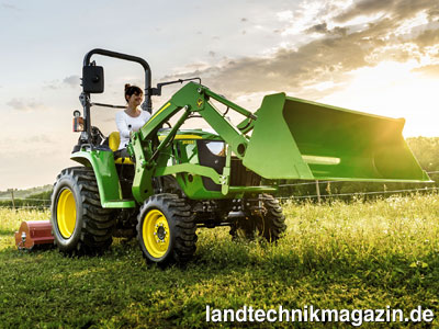 Bild der neue john deere kleintraktor e bietet laut
