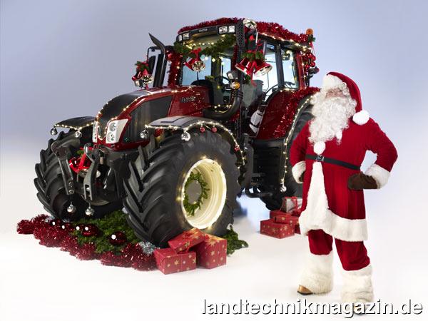 xl bild 1 der weihnachtsmann f hrt ab sofort einen valtra traktor als dienstwagen und nutzt