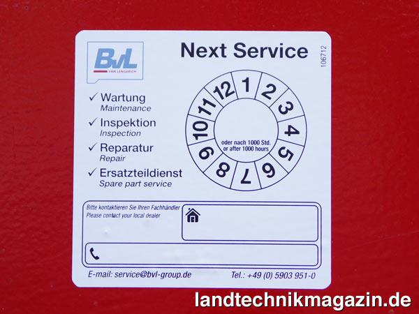 xl bild 1 die neue service plakette von bvl gibt an wann die n chste wartung des. Black Bedroom Furniture Sets. Home Design Ideas